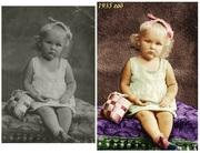 Восстановление старых фото,  создание слайдов,  поздравления,  открытки