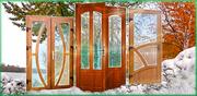 Межкомнатные металлопластиковые двери со вставкой МДФ