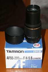 Продам б/у объектив Tamron AF55-200for canon
