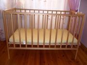 Детская кроватка + матрас кокосовый