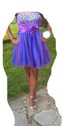 Фиолетовое платье сиреневое платье 2012