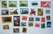 Почтовые марки поезда