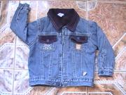 Джинсовая курточка на флисе до 2-х лет