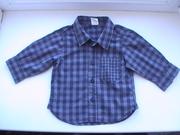 Рубашка H&M для мальчика р.62-68, хлопок