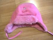 Флисовая шапочка Barbie девочке 3-5лет