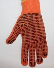 """Продам рабочие перчатки с ПВХ точкой   """"Оранжевые"""""""