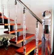 Перила из алюминия,  лестничные ограждения самые дешевые в Украине