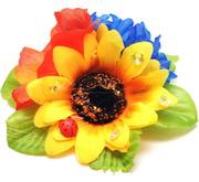 Українські заколки з квітами оптом