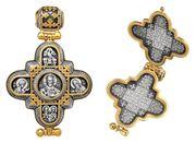 Крест-мощевик (Панагия) - «Господь Вседержитель. Божия Матерь»