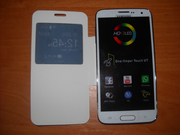 Samsung S5 4, 7 black white (2 sim,  tv,  java)