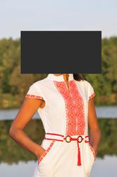 Продам  новое,  эксклюзивного дизайна,  вышитое платье ручной работы
