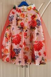 Новая шикарная летняя юбка миди в цветочный принт. Размер S.