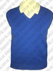 Трикотажные изделия жилетки и свитера для школьников