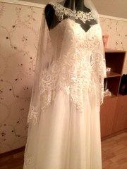 Шикарное свадебное платье цвета айвори,  ручная работа, сделано на заказ