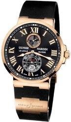 Продам механические часы Ulysse Nardin Marine. Цвет: чёрный с золотым.