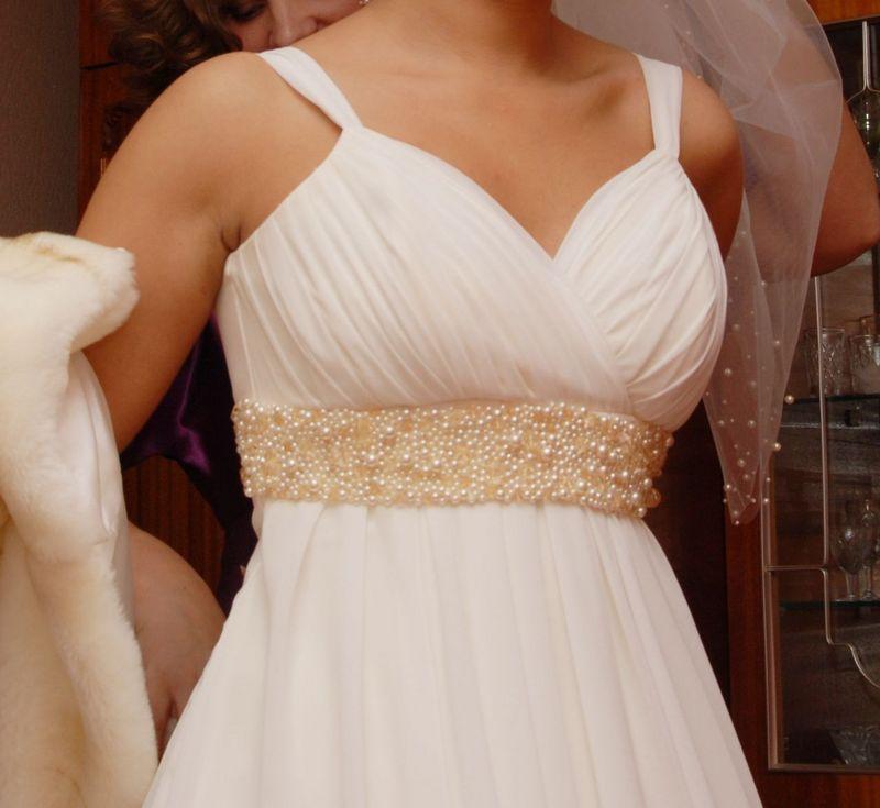 Короткое свадебное платье в греческом