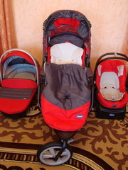 Продам детскую коляску б/у СНICCO Trio S3 Black